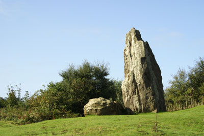 standing stone, Isle of Wight