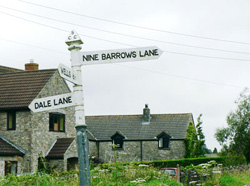 Nine Barrows sign
